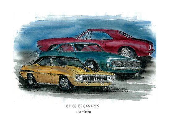 67, 68, 69 Camaros by designsnimages