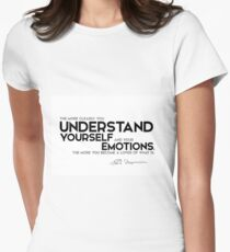 understand yourself and your emotions - spinoza Women's Fitted T-Shirt