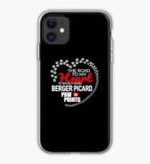 The Road To My Heart Is Paved With Berger Picard Paw Prints - Gift For Passionate Berger Picard Dog Owners iPhone Case