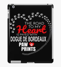 The Road To My Heart Is Paved With Dogue De Bordeaux Paw Prints - Gift For Passionate Dogue De Bordeaux Dog Owners iPad Case/Skin