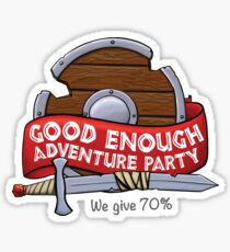 Good Enough Adventure Party Glossy Sticker