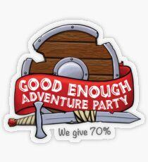 Good Enough Adventure Party Transparent Sticker