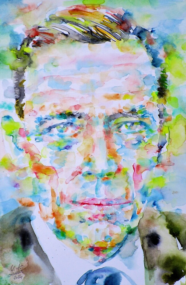 JEAN GEBSER - watercolor portrait by lautir