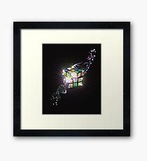 Rubik Cube Shattered DNA Strand Awesome Design T-shirt Framed Print