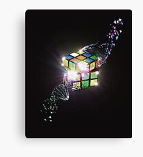 Rubik Cube Shattered DNA Strand Awesome Design T-shirt Canvas Print
