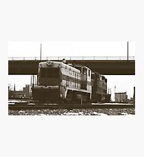 An Old Train Duotone Photographic Print