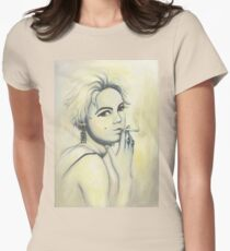 Edie Painting Women's Fitted T-Shirt