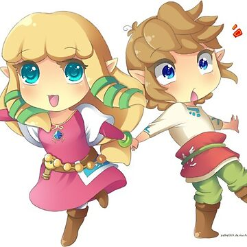 Zelda and Link by coizy