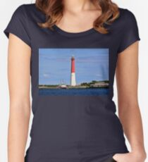Fishing Boats and Lighthouses  Women's Fitted Scoop T-Shirt