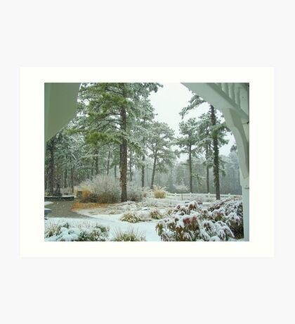 Snow Scene  from The Gazebo  Art Print