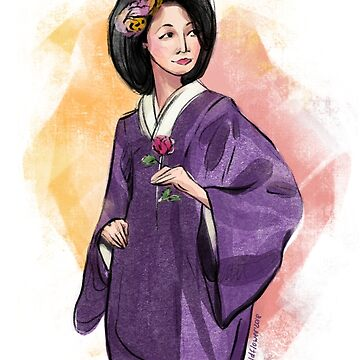 Geisha painting by Wildflower-Art