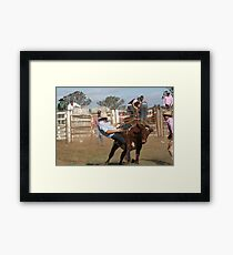 Cowboy Down No 2 Framed Print