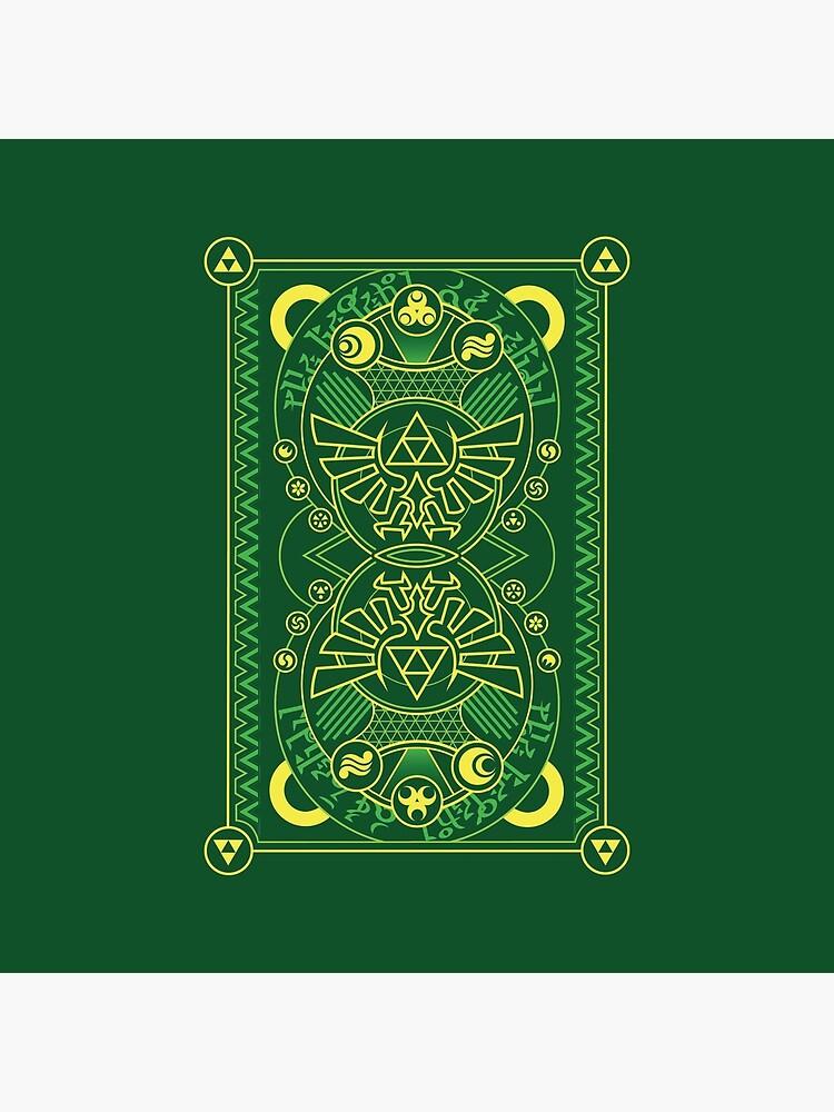 Tarjeta de vuelta - Hylian Court Legend of Zelda de sorenkalla