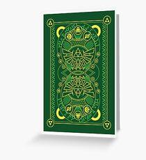 Card Back - Hylian Court Legend of Zelda Greeting Card