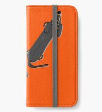 Ging mit einem Dackel iPhone Flip-Case/Hülle/Skin