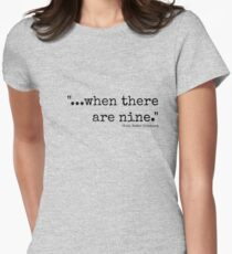 When There Are Nine Women's Fitted T-Shirt