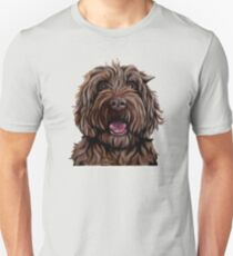 Chocolate Australian Cobberdog/Australian Labradoodle Unisex T-Shirt