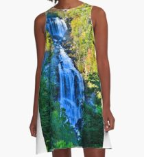 Upper Whitewater Fall North Carolina Vertical A-Line Dress