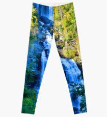 Upper Whitewater Fall North Carolina Vertical Leggings