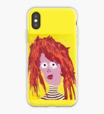 Fille - Martin Boisvert - Faces à flaques iPhone Case