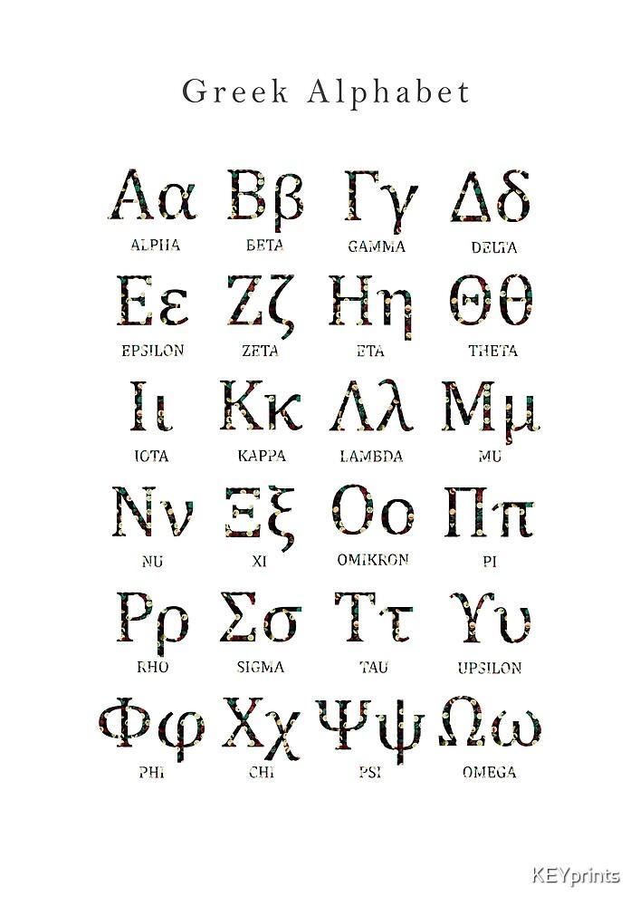 Greek Alphabet Language Of Science By Keyprints Redbubble