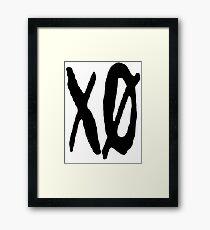 XO Slash [Black] Framed Print