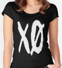 XO Slash [White] Women's Fitted Scoop T-Shirt