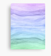 Watercolor Layers Blue Ombre Canvas Print