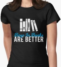 Boys In Books Women's Fitted T-Shirt