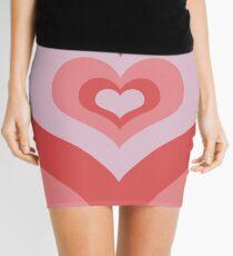 Radiating Hearts Pink Mini Skirt