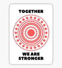 Together We Are Stronger - Red - Dissociative Identity Disorder Merch Sticker