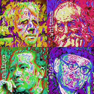 Pop Art - Great American Poets (Male) by Chunga