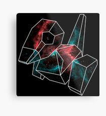 Cosmic Porygon with white outline Metal Print