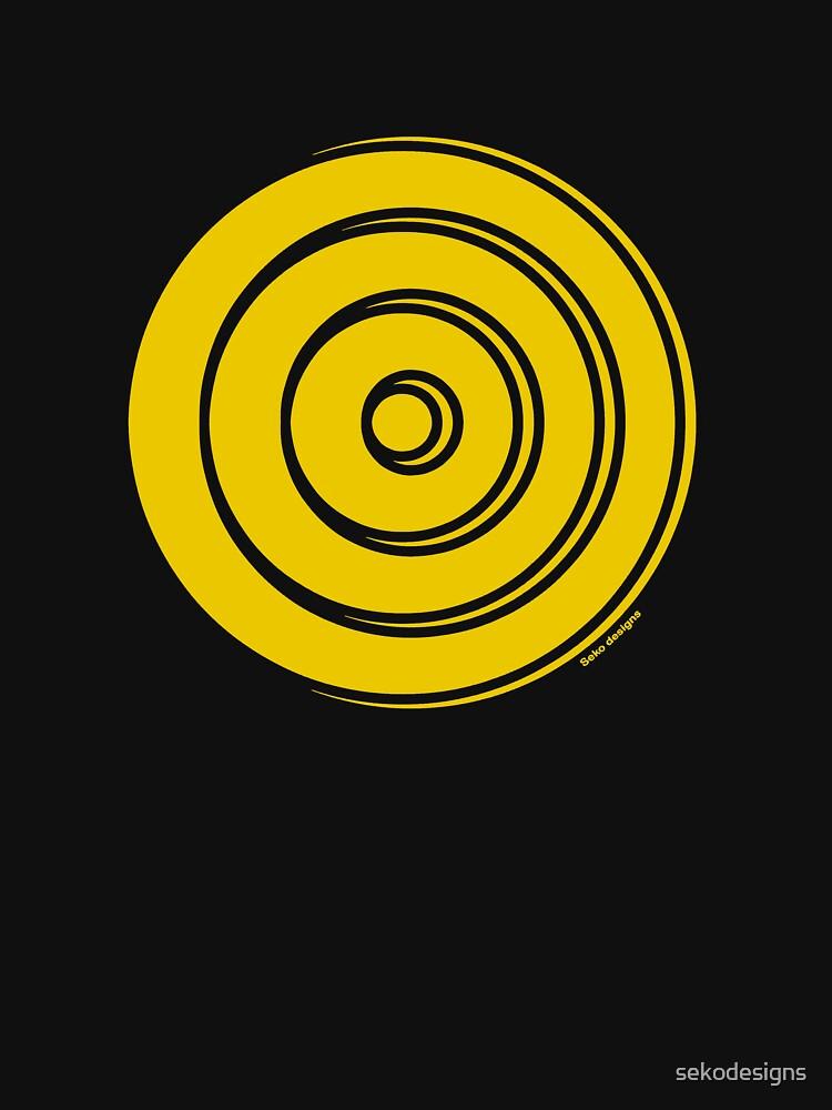 Mandala 33 Yellow Fever  by sekodesigns