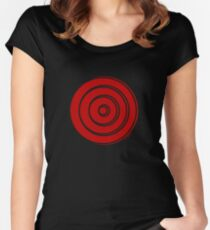Mandala 33 Colour Me Red Women's Fitted Scoop T-Shirt