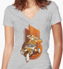 Beat-box-bot Women's Fitted V-Neck T-Shirt