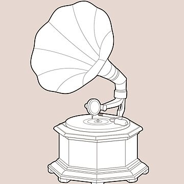 Technical Illustration of a Phonograph by AndreasEdren