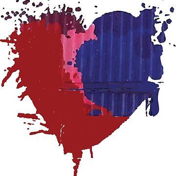 Painted Heart by zeke2usher