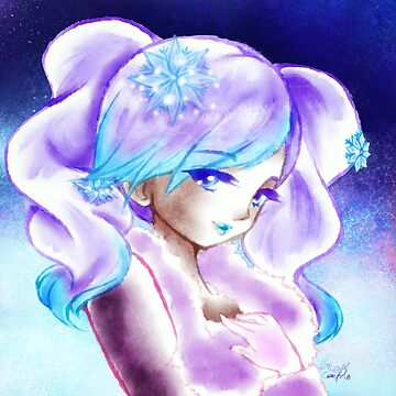 Cute Kawaii Crystal Snow Shopkins Shoppies Doll Shoujo Anime Fan Art by BonBonBunny