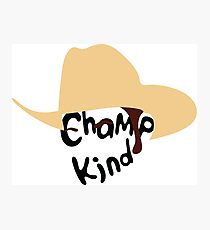Champ Kind Photographic Print