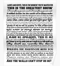 The Greatest Showman Typography (black) Poster