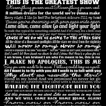 The Greatest Showman Typography (white) by GreysGirl
