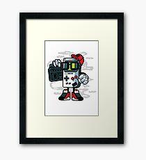 Retro Game Kid Framed Print