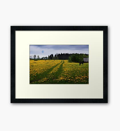 Green road Framed Print