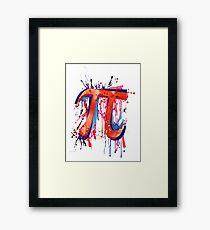 Emotional Pi Framed Print