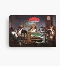 Lienzo Perros jugando al póker