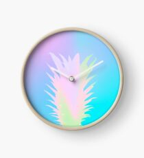 Iridescent pineapple Clock