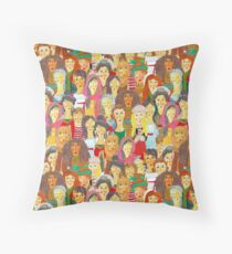 Pattern #75 - The gaze of sisterhood Throw Pillow