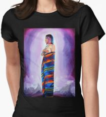 Purple Planets, Connection Women's Fitted T-Shirt