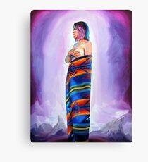 Purple Planets, Connection Canvas Print